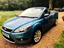 Stunning limited edition 2010 Ford Focus Coupe Cabriolet 2.0 CC-3 Convertible, Only 7K Mileage,