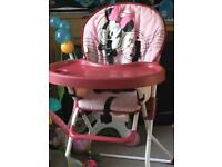 Minnie Mouse Highchair