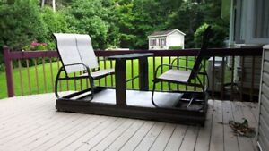 4-seater patio gliding table and chairs