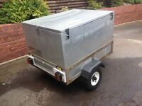 Galvanised Metal Box Trailer with removable lid.