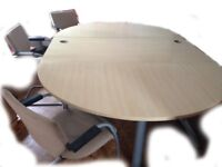 Office board room table or large desk with 6 chairs