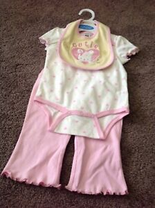 3-piece baby girl pink suit(new)