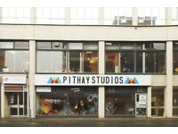 Artist studio share. Pithay Studios. Great central location. £70 a month, noisy work not a problem.