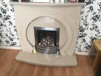 Beautiful Cream Marble Fireplace looks amazing in a living room dismantle self and collection only .