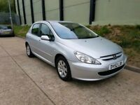 PEUGEOT 307 2.0 HDI SUPER ECONOMICAL DRIVES SUPERB NEW DISCS AND PADS BARGAIN £495