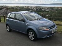 Chevrolet KALOS 1.2cc 5 Door hatchback in blue Only 69000 NEW MOT Low Insurance
