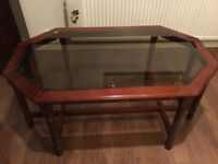 Occasional Table with glass insert