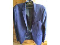 Blue Burton suit skinny fit