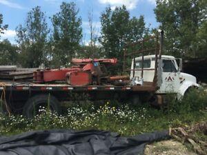 International Flat bed picker truck. Make an offer!