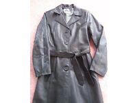 Ladies Leather Coat - Petticoat Lane Size 12