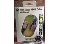 Nikkei HD Pro High-Speed, 1m HDMI cable (with ethernet)