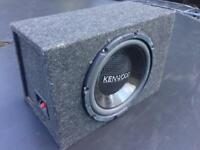 12 INCH KENWOOD 800 WATTS SUBWOOFER IN BASS BOX SMETHWICK £25