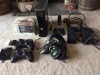 Xbox 360 slim bundle, touch screen, turtle beach headset + spares