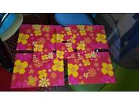 Bright glass placemats