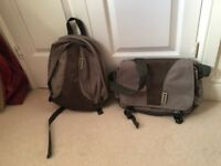 Samsonite travel bag and small backpack