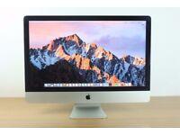 "Apple 27"" iMac Intel Quad Core i7 3.4GHz 12GB RAM 1TB HDD (GRADE A)"