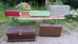 Coffre outils antique ... old tool chest