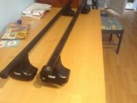 Genuine Thule roof bars for Renault Clio 3 doors, excellent condition