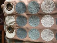 Next Lined Eyelet Curtains - 2 pairs