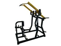 Commercial Grade ISO Lateral Front Lat Pull Down **NEW** Black frame with yellow arms/black cushion
