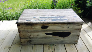 OLD WOOD CHEST