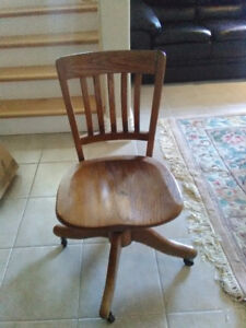Solid oak antique chair