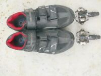 Shimano SPD Cycling Shoes with Pedals