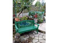 Green garden bench forsale