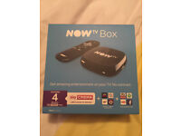 2x NOW TV Boxes with all accessories - Brand New & still sealed - HDMI, Power adaptor.