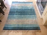 Laura Ashley Stripe Rug Throw Good Used Condition