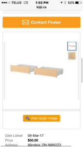 IKEA Under Bed Drawers
