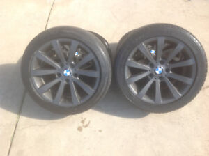 "BMW staggered 17""Rims and Michelin Tires"