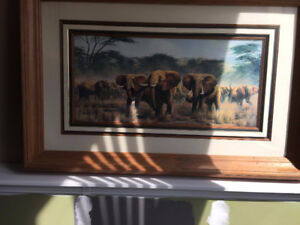 Great Elephant Picture in large frame