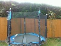 Trampoline net enclosure with bars. 10 ft