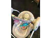 Baby musical swing comfy chair as NEW