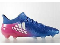 Adidas X 16.1 Firm Ground Boots (size 10)- Blue/Pink