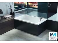 1220 x 720 Integral Sit Bath - Single Ended
