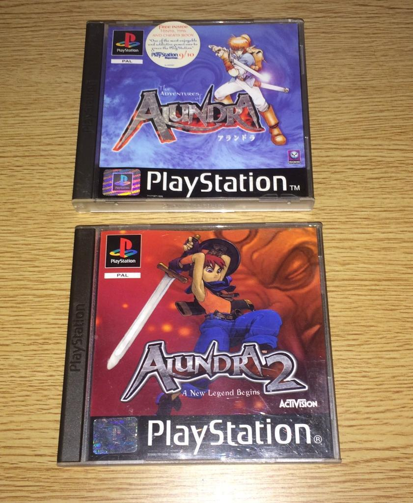 The Adventures Of Alundra 1 & 2 PS1 Games Bundle