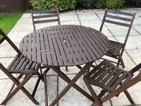 Sold pending collection- Garden Table & Chairs
