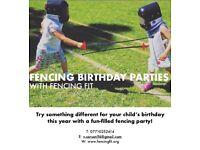 Children's Fencing Birthday Parties!