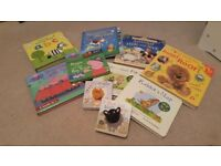 Selection of baby and toddler books