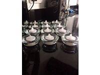 32 x glass tealight holders