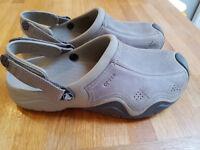 Leather Crocs Size 10