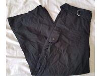 Women's Black Casual/Utility Trousers [Wallis] UK Size 12
