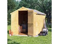 Garden Shed Brand New 4ft (D) x 6ft (W) Flat Packed with Instructions (Windowless) Unwanted Gift