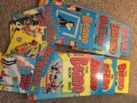 Beano books 1971, 80, 81, 82, 83, 84, 87, 89