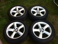 REDUCED TO CLEAR!! Q5 18 inch alloy rims & tyres, EXCELLENT CONDITION