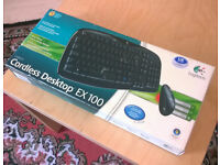 Logitech Cordless Desktop EX100 (boxed/unused)
