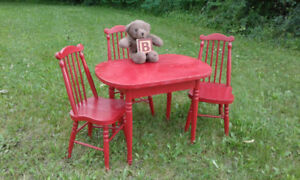 Vintage children's table & chairs set
