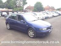 2005 (05 Reg) SEAT Leon 1.4 16V S 5DR Hatchback BLUE + LOW MILES
